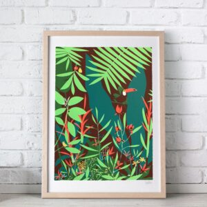 sebastien pelon jungle serigraphie