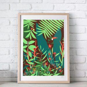 sebastien pelon jungle serigraphie